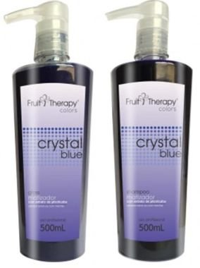 Left - Fruit Therapy Crystal Blue Kit Shampoo 500ml + Gloss 500ml Matizador VENCIMENTO 11/2017