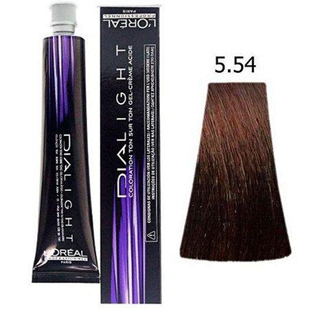 L'Oréal Professionnel - Dialight Tonalizante 5.54 Castanho Claro Acaju Acobreado 50ml Vence Outubro 2017