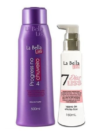 La Bella Liss -  Kit Progressiva No Chuveiro 500ml e Leave-in 7 Dias liss 160ml.