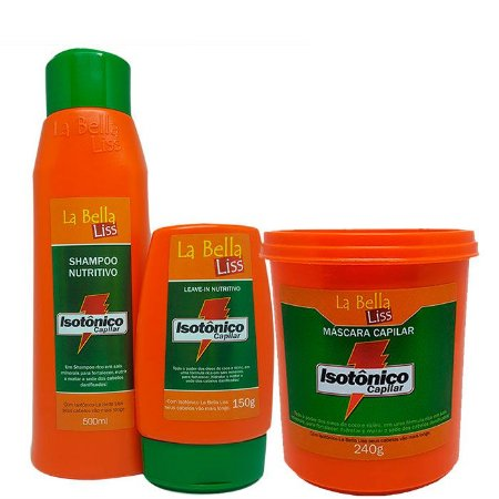 La Bella Liss - Isotônico Capilar Kit Shampoo 500ml + Leave-in 150g + Máscara 240g