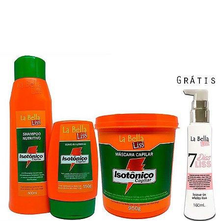 La Bella Liss - Isotônico Capilar Kit Shampoo 500ml + Leave-in 150g + Máscara 950g GRÁTIS 7 Dias Liss*