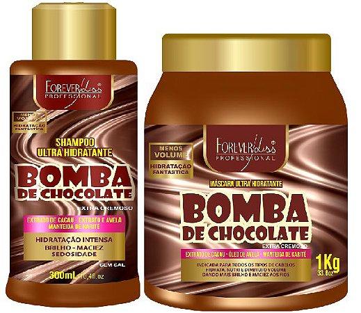 Forever Liss - Bomba de Chocolate Shampoo 300ml + Máscara 1kg