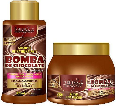 Forever Liss - Bomba de Chocolate Shampoo 300ml + Máscara 250g