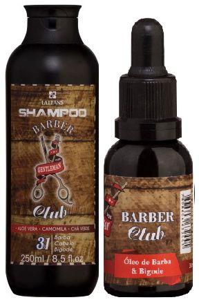 Lattans - Barber Club Shampoo Barba, Cabelo e Bigode 250ml + Óleo de Barba e Bigode 30ml
