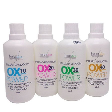 Forever Liss - Emulsão Reveladora Ox Power 10, 20, 30 e 40 Volumes 80ml