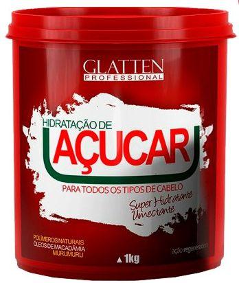 Glatten Professional - Açúcar Máscara de Reconstrução 1kg