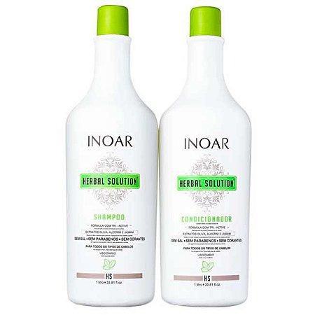 Inoar - Herbal Solution Kit Profissional Shampoo e Condicionador 1L cada