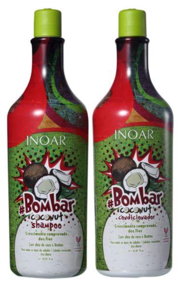 Inoar - Bombar Coconut Shampoo + Condicionador 1L Cada