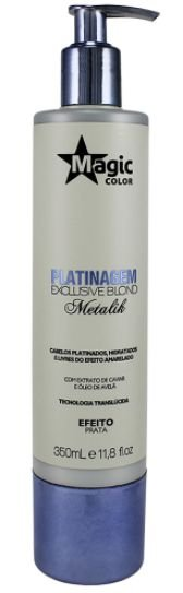 Magic Color - Platinagem Exclusive Blond Metalik Efeito Prata 350ml