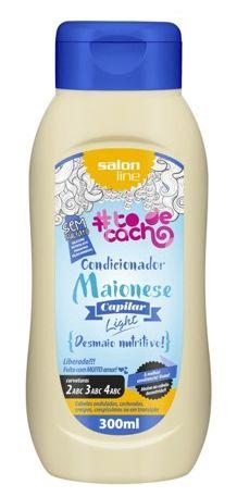 Salon Line - #TodeCacho Maionese Capilar Ligth Condicionador Desmaia Nutritivo 300 ml