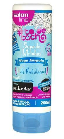 Salon Line - #TodeCacho Sopa de Letrinhas Mega Ampola H de Hidratação 200ml