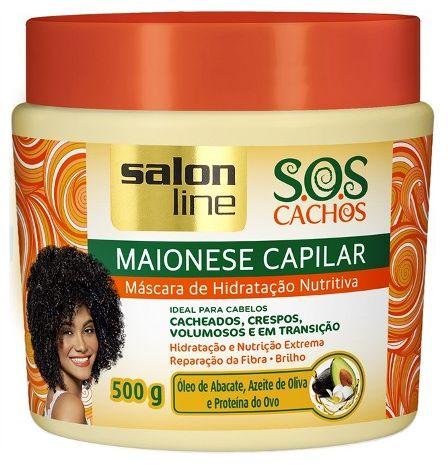 Salon Line - SOS Cachos Maionese Capilar Máscara de Hidratação Nutrição 500g
