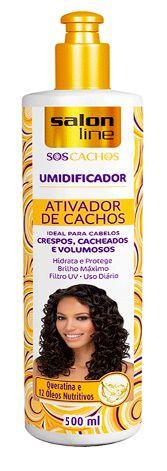Salon Line - SOS Cachos Umidificador Ativador de Cachos 500 ml