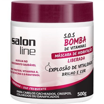 Salon Line - SOS Bomba de Vitaminas Liberada Máscara 500g