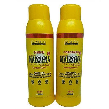 Glatten Professional - Maizzena Shampoo e Condicionador 500ml cada.