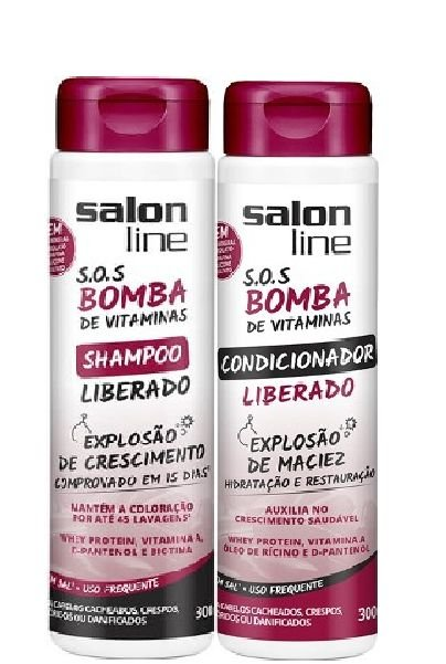 Salon Line - SOS Bomba de Vitaminas Liberado Shampoo e Condicionador 300ml cada