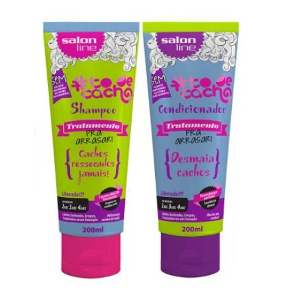 Salon Line - #TodeCacho Tratamento pra Arrasar Kit Shampoo e Condicionador 200ml cada