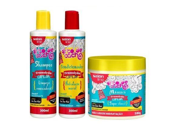 Salon Line - #TodeCacho Transição Capilar Kit Shampoo 300ml + Condicionador 300ml + Máscara 500g