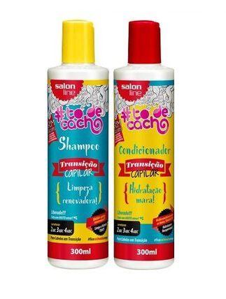 Salon Line - #TodeCacho Transição Capilar Kit Shampoo e Condicionador 300ml cada