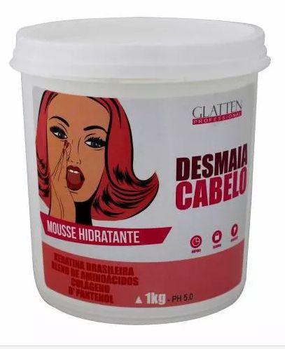 Glatten Professional - Desmaia Cabelo Máscara Mousse Hidratante 1kg