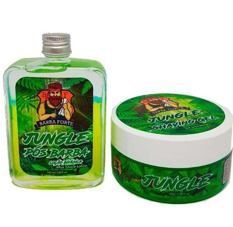 Barba Forte - Jungle Loção Pós Barba 100ml + Jungle Shaving Gel 170g