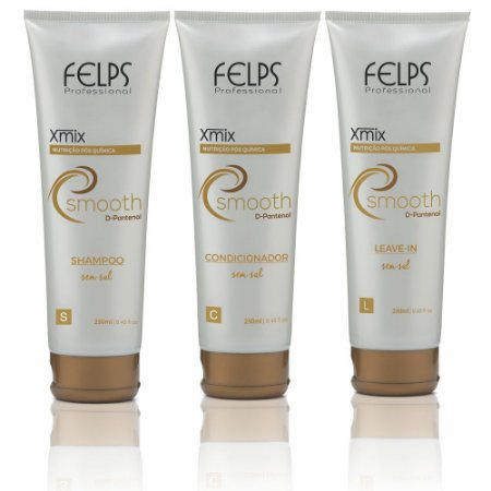 Felps - Xmix Smooth Nutrição Pós Química Kit Shampoo + Condicionador + Leave-in 250ml cada