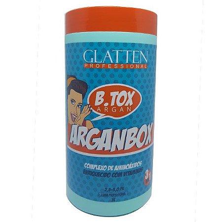 Glatten - Arganbox 1kg Redutor de Volume Matizador 3 em 1