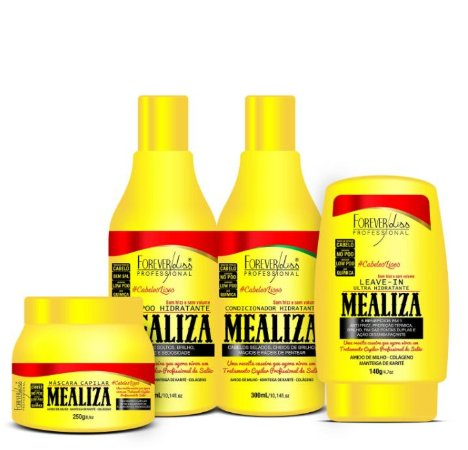 Forever Liss - Mealiza Kit Shampoo 300ml + Condicionador 300ml + Leave-in 140g + Máscara 250g