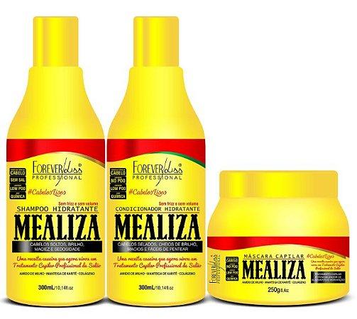 Forever Liss - Mealiza Shampoo 300ml + Condicionador 300ml + Máscara 250g