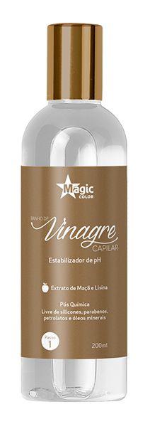 Magic Color - Banho de Vinagre Capilar Estabilizador de Ph 200ml