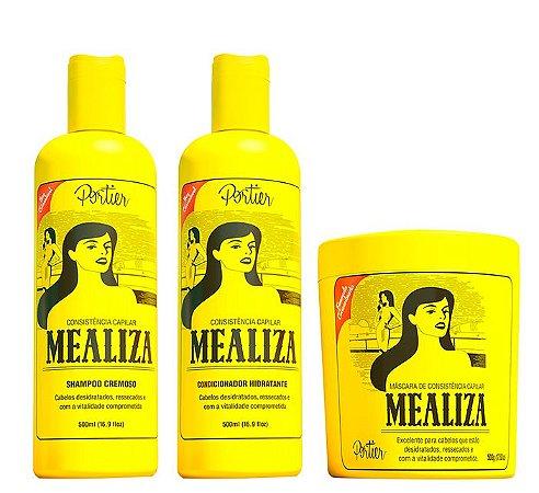 Portier - Mealiza Kit Shampoo 500ml + Condicionador 500ml + Máscara 500g