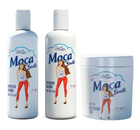 Portier - Moça Bonita Kit Shampoo 500ml + Condicionador 500ml + Máscara 500g