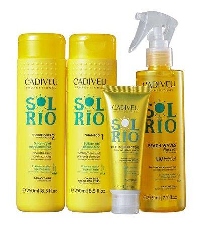 Cadiveu - Sol do Rio Kit Poção Mágica Shampoo + Condicionador + Máscara + Leave-in + Necessaire (Brinde)