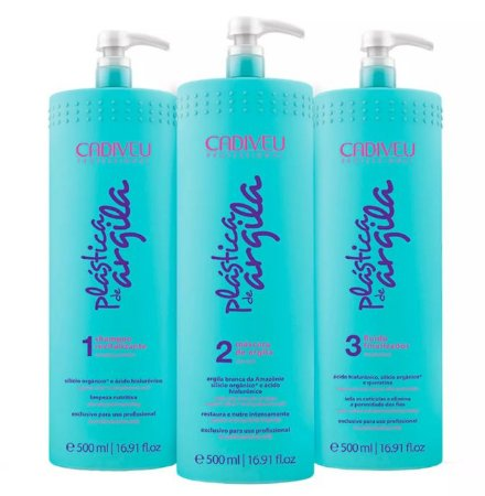 Cadiveu - Plástica de Argila Btx Kit Shampoo + Máscara + Fluido Finalizador 3x500ml