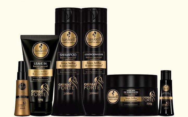 Haskell - Cavalo Forte Kit Shampoo + Condicionador + Leave-in + Máscara + Proteção Solar + Complexo Fortalecedor