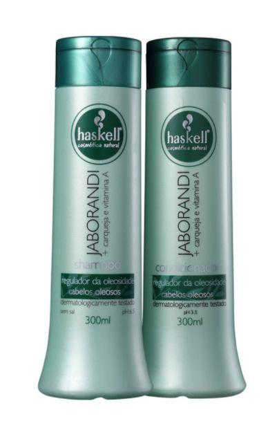 Haskell - Jaborandi Shampoo + Condicionador 2x300ml Cabelo Oleoso