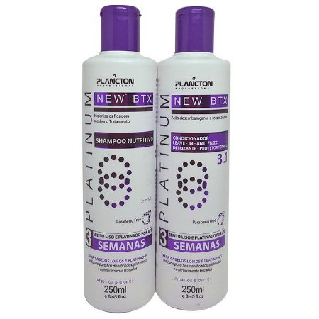 Plancton - New BTX Platinum Kit Shampoo + Condicionador 2x250ml