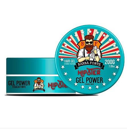Barba Forte - Hipster Gel Power Fixação Forte 200g