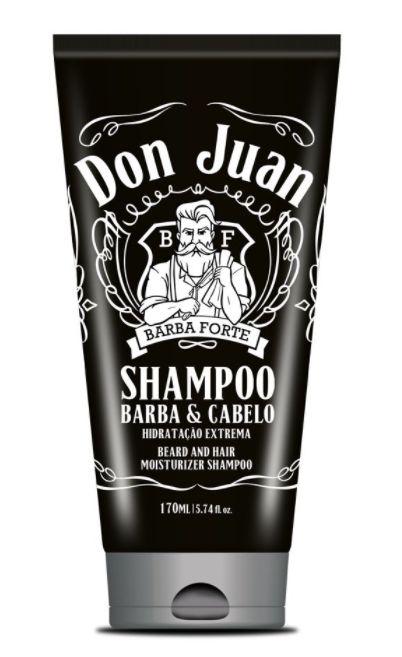 Barba Forte - Don Juan Barba e Cabelo Shampoo Hidratação Extrema 170ml