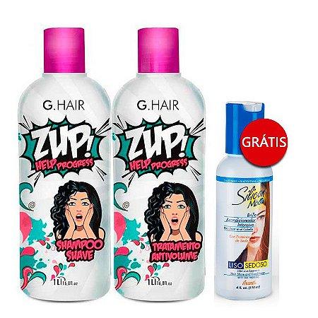 G.Hair Escova Progressiva 2x1Litro GANHE Leave-in Avanti Silicon Mix 118ml