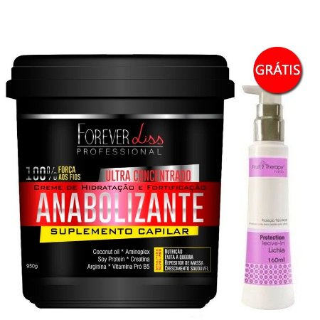Forever Liss - Fortificante Capilar 950g GANHE Leave-in Fruit Therapy Lichia