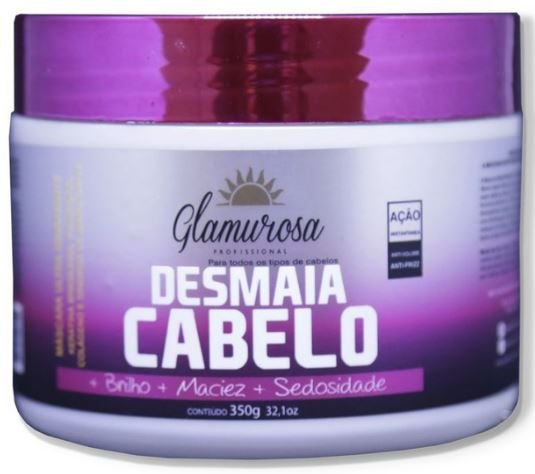 Glamurosa - Desmaia Cabelo Máscara Ultra Hidratante Anti Volume e Frizz 350g