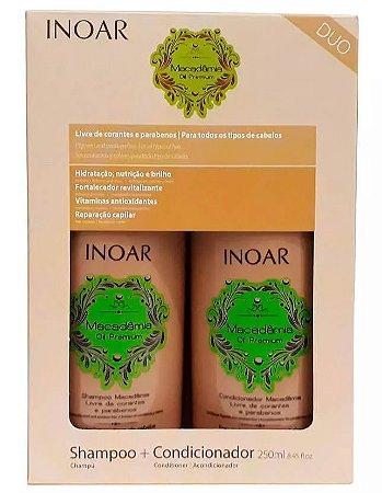 Inoar - Kit Duo Macadâmia Oil Premium (Shampoo 250ml + Condicionador 250ml)