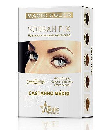 Magic Color - Sobran Fix Henna Para Design de Sobrancelha Castanho Médio