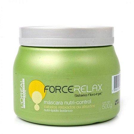 L'Oréal - Force Relax Máscara Nutri-control 500g Cabelos Relaxados ou Alisados VENCIMENTO JUNHO 2017