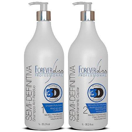 Forever Liss Escova Semi Definitiva Power 3D System - 2 x 1L