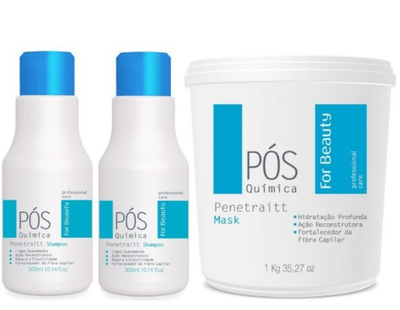 For Beauty - Penetraitt Kit Pós Química Shampoo, Condicionador e Máscara 1kg