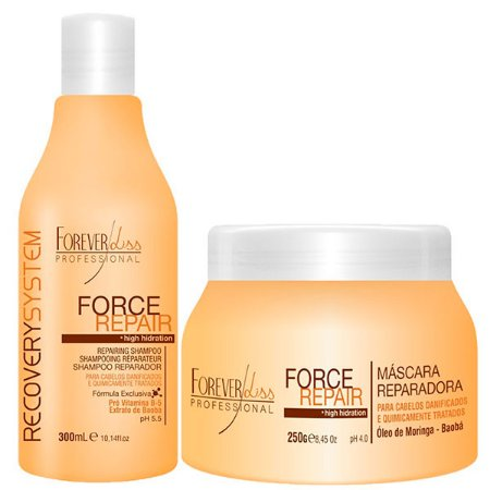 Forever Liss - Force Repair Kit Shampoo e Máscara Reconstrução Capilar Home Care