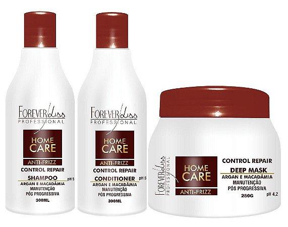 Forever Liss - Home Care Kit Antifrizz Shampoo + Condicionador 300ml + Máscara 250g