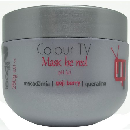 Leads Care - Colour TV Be Red Máscara Tonalizante Vermelho Mogno 250g